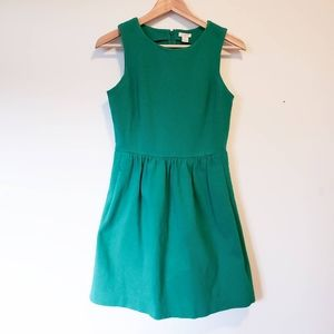 J. Crew Emerald Green Tank Dress XS